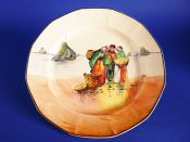 Royal Doulton 'Brittany Fisherfolk' Series Ware Octagon Rack Plate D4405 c1928